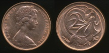 World Coins - Australia, 1966(c) Two Cents, 2c, Elizabeth II - Uncirculated