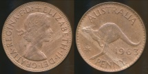 World Coins - Australia, 1963(p) One Penny, 1d, Elizabeth II - Uncirculated
