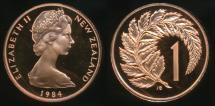 World Coins - New Zealand, 1984 One Cent, 1c, Elizabeth II - Proof