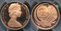 World Coins - Australia, 1982 Two Cents, 2c, Elizabeth II - PCGS PR69DCAM (Proof)