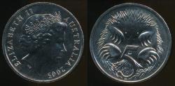 World Coins - Australia, 2005 Five Cents, 5c, Elizabeth II - Uncirculated