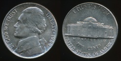 World Coins - United States, 1989-P 5 Cents, Jefferson Nickel - Extra Fine