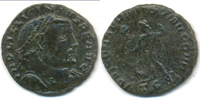 Ancient Coins - LICINIUS I, AE-Follis, AD 308-324, Thessalonica mint, (23mm, 3.68 g) - RIC 60