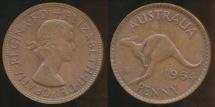 World Coins - Australia, 1964(m) One Penny, 1d, Elizabeth II - Uncirculated