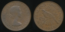 World Coins - New Zealand, 1958 One Penny, 1d, Elizabeth II - Extra Fine