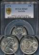 World Coins - Australia, 1973 Ten Cents, 10c, Elizabeth II - PCGS MS65