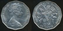 World Coins - Australia, 1982 50 Cents, Elizabeth II (XII Commonwealth Games) - Uncirculated
