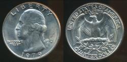 World Coins - United States, 1979-D Quarter, 1/4 Dollar, Washington - Uncirculated