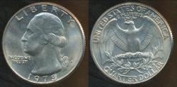 World Coins - United States, 1978-D Quarter, 1/4 Dollar, Washington - Uncirculated