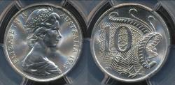 World Coins - Australia, 1983 Ten Cents, 10c, Elizabeth II - PCGS MS66 (Gem Unc)