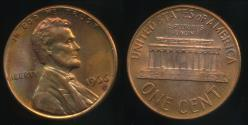 World Coins - United States, 1966 One Cent, 1c, Lincoln Memorial - Uncirculated