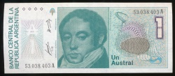 World Coins - Argentina, Republic, 1 Austral, 1986, P#323a - Uncirculated