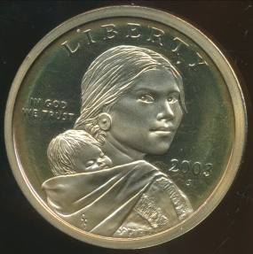 World Coins - United States, 2003-S One Dollar, Sacagawea - Proof
