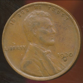 World Coins - United States, 1930-S One Cent, Lincoln Wheat - Fine