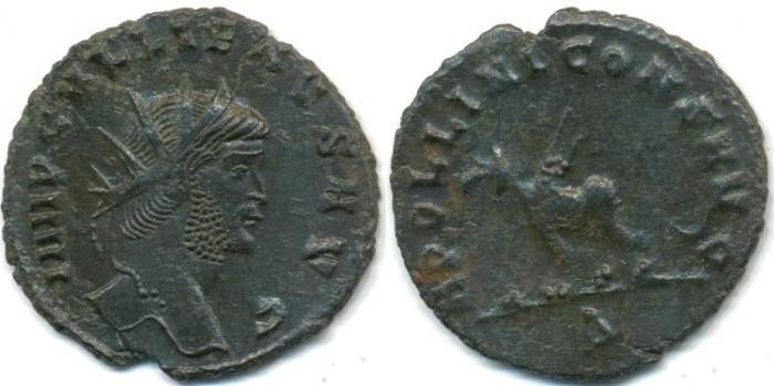 Ancient Coins - GALLIENUS, AE Antoninianus, AD 253-268, Rome mint, (20mm, 2.56 gm), Struck AD 267-268 - RIC 165