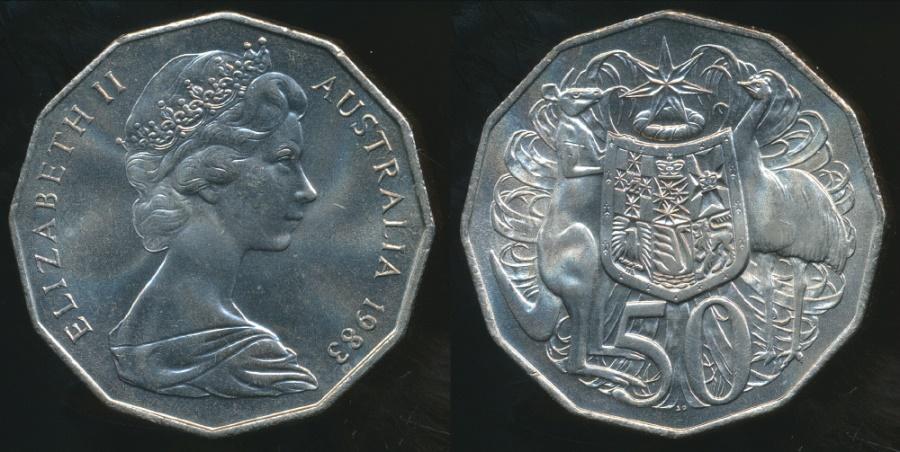 1983 50 CENT UNCIRCULATED  SCARCE COIN AUSTRALIA