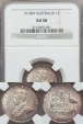 World Coins - Australia, 1918(m) Shilling, George V (Silver) - NGC AU58