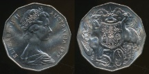 World Coins - Australia, 1979 Fifty Cents, 50c, Elizabeth II - Uncirculated