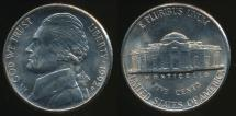World Coins - United States, 1992-P 5 Cents, Jefferson Nickel - Uncirculated