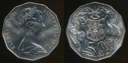 World Coins - Australia, 1979 Fifty Cents, 50c, Elizabeth II - Uncirculated