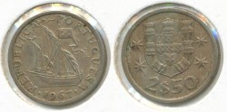 World Coins - PORTUGAL - 1967, 2-1/2 Escudos, KM# 590