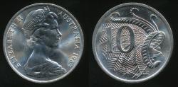 World Coins - Australia, 1983 Ten Cents, 10c, Elizabeth II - Choice Uncirculated