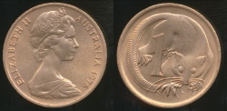 World Coins - Australia, 1976 One Cent, 1c, Elizabeth II - Uncirculated