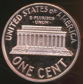 World Coins - United States, 1991-S One Cent, Lincoln Memorial - Proof