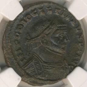 Ancient Coins - ROMAN EMPIRE - Diocletian, BI Nummus - NGC Ch-XF
