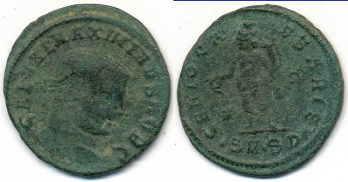 Ancient Coins - GALERIUS, AE-Follis, AD 305-311, Serdicia mint, (27mm, 6.15 g)