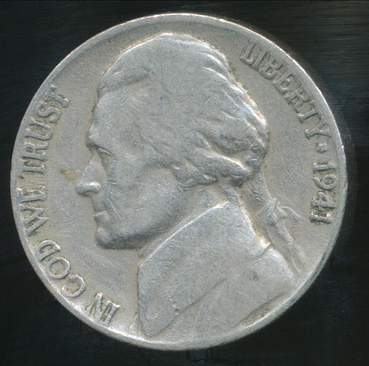 United States 1941 5 Cents Jefferson Nickel Fine