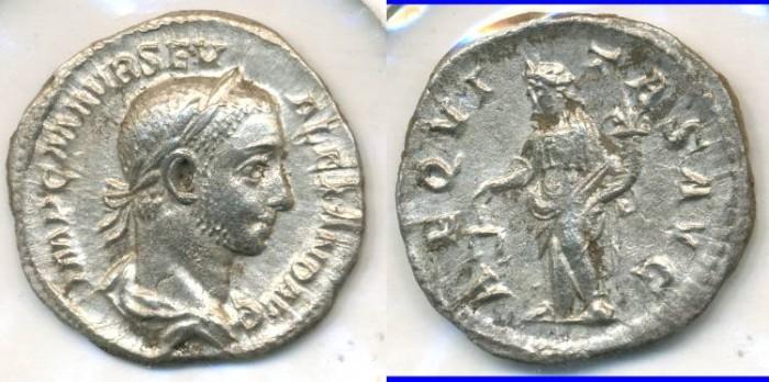 Ancient Coins - SEVERUS ALEXANDER, AR Denarius, AD 222-235, Rome mint, (19mm, 3.13 gm) - RIC 127
