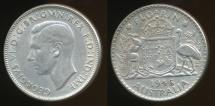World Coins - Australia, 1946(m) Florin, 2/-, George VI (Silver) - Very Fine
