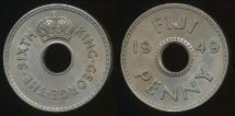 Fiji, Republic British Administration, 1949 Penny, 1d, George VI - Extra Fine