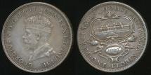 World Coins - Australia, 1927 Florin, 2/-, George V (Canberra)(Silver) - gVF