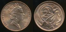 World Coins - Australia, 1989 Two Cents, 2c, Elizabeth II - Uncirculated