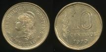 World Coins - Argentina, Republic, 1970 10 Centavos - Uncirculated