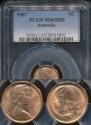 World Coins - Australia, 1967 One Cent, 1c, Elizabeth II - PCGS MS65RD