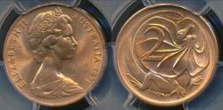 World Coins - Australia, 1971 Two Cent, 2c, Elizabeth II - PCGS MS66RD (Gem Unc)