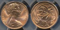 World Coins - Australia, 1970 Two Cent, 2c, Elizabeth II - PCGS MS65RD (Gem Unc)