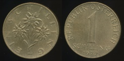 World Coins - Austria, Republic, 1977 1 Schilling - Uncirculated