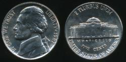World Coins - United States, 1987-D 5 Cents, Jefferson Nickel - Uncirculated