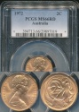 World Coins - Australia, 1972 2 Cents, Elizabeth II - PCGS MS66RD
