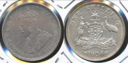 World Coins - Australia, 1924 One Shilling, 1/-, George V (Silver) - Very Fine