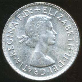World Coins - Australia, 1963 Threepence, Elizabeth II (Silver) - Uncirculated