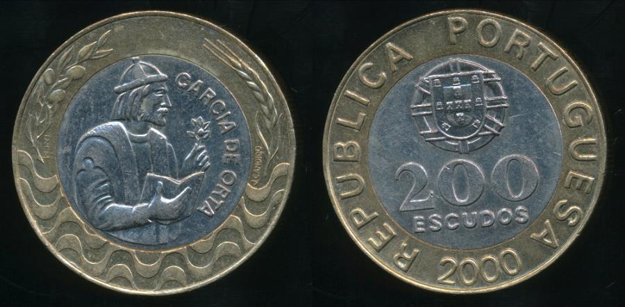 World Coins - Portugal, Republic, 2000 200 Escudos - Uncirculated