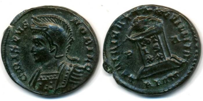 Ancient Coins - CRISPUS, AE follis, AD 317-326, London mint, (19mm, 3.61 gm), Struck AD 321 - RIC VII 211
