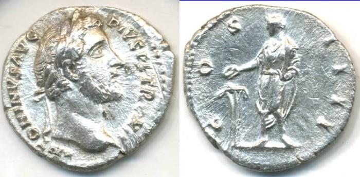 Ancient Coins - ANTONINUS PIUS, AR Denarius, AD 138-161, Rome mint, (19mm, 3.06 gm), Struck AD 148-149 - RIC 183
