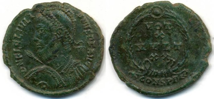 Ancient Coins - JULIAN II (The Apostate) AE-3 AD 360-363 Constantinople
