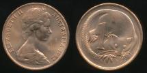 World Coins - Australia, 1982 One Cent, 1c, Elizabeth II - Uncirculated